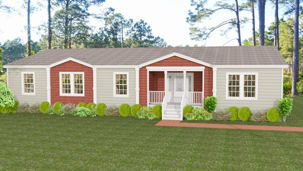 Exterior rendering Jacobsen Homes Floor Plan IMP-7604