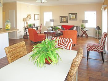 Living room option at Grey's Housing Center