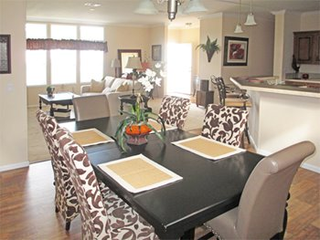 Dining room option at Grey's Housing Center
