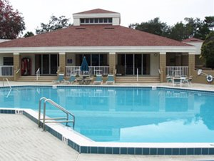 community pool at The Falls at Ormond