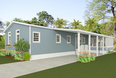 Exterior Rendering for a rear view home