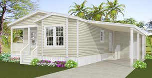 Exterior rendering of Jacobsen Home IMP-6402A  with optional carport