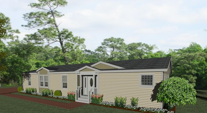Exterior rendering Jacobsen Homes Floor Plan TNR-7604