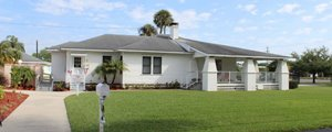 Clubhouse at Palm Village manufactured home community in Bradenton Florida