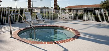 Community Hot Tub at Brentwood Estates mobile home park in Hudson Florida
