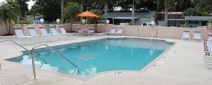 Community pool at Palm Village manufactured home community in Bradenton Florida