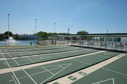 West shuffle board courts at 5 star teakwood village mobile home park