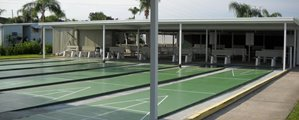 Shuffle Board Courts at Regency Heights mobile home community in Clearwater Florida