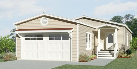 Rendering of a Jacobsen Home with an attached front garage