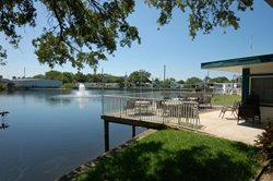 Waterfront property at Teakwood Village retirement 55+ Mobile Home Park located in Largo, Florida