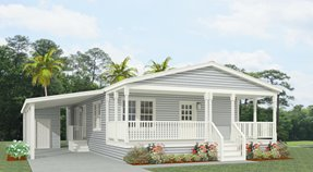 Exterior rendering Jacobsen Homes model TNR-4444