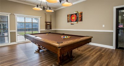 Billiards Room at Lakeshore Vills