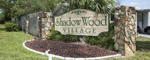 Entry Sign at Shadow Wood Village mobile Home Community in Hudson Florida
