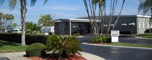 Street Scape at Regency Heights mobile home community in Clearwater Florida