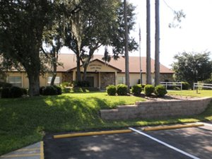 Exterior of Clubhouse at Nature's Edge manufactured home community in Lake Wales Florida