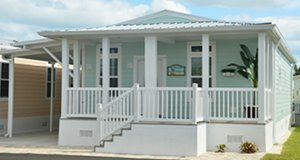Cottage style Jacobsen Home at Ocean Breeze modular home community in Jensen Beach Florida