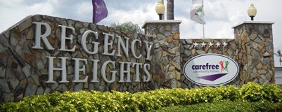 Regency Heights Entrance Sign